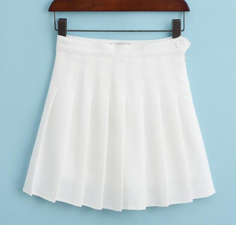 89825bfe43 Wholesale-Women's Tennis Skirts Sports High Waist Pleated Boufancy Short  Dress Badminton Volleyball Running Cheering Beach