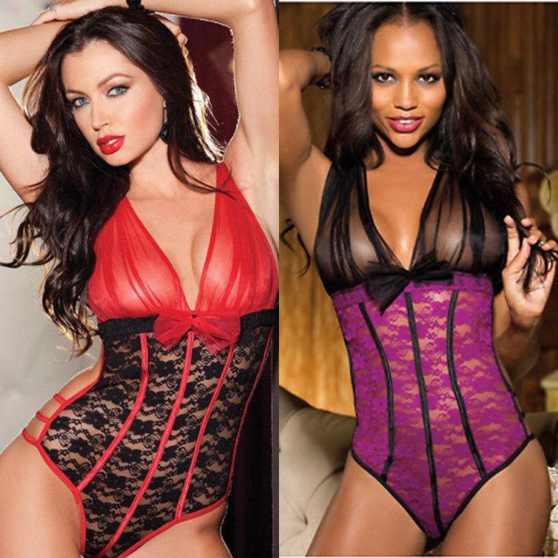 d0d4a8dcf NEW Women s Sexy Lingerie Babydoll Sleepwear Underwear Lace Sleep Dress set  Best  R78