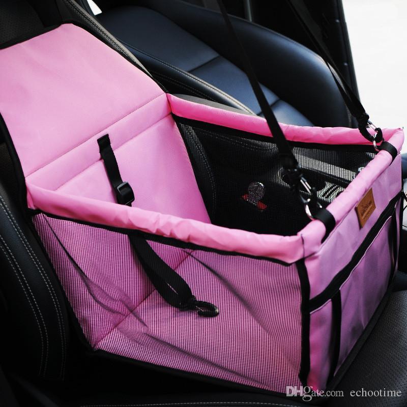 Nouvelle Arrivée Pet Dog Carrier Car Seat Pad Coffre-fort Carry House Bag Accessoires De Voyage De Voiture Étanche Chien Siège Sac Panier Produits Pour Animaux