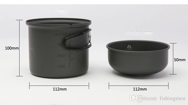 CW-C01 outdoor tableware set Portable stove cookware travel kit Bowl Pot Cooker stove Set 1-2 People for camping BBQ