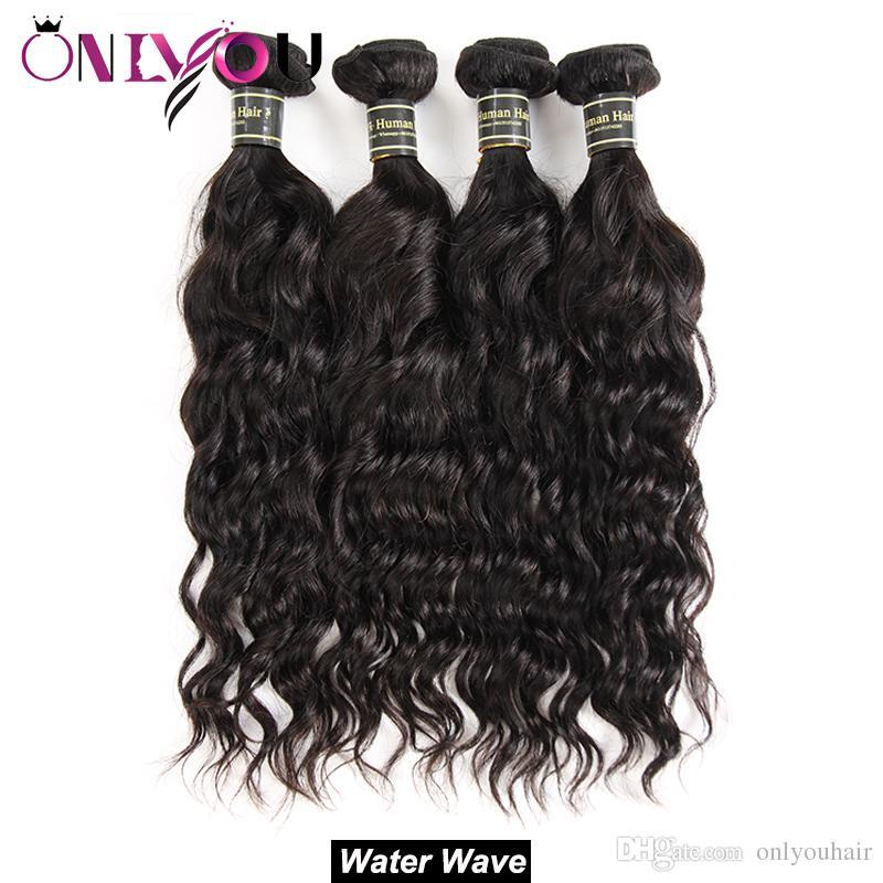 Brasilianische Reine Haarkörperwelle Gerade Tiefe Wasserwelle Verworrene Lockige Menschenhaarverlängerungen 10a Grade Schusswebart 3 4 Bundles Natural Black