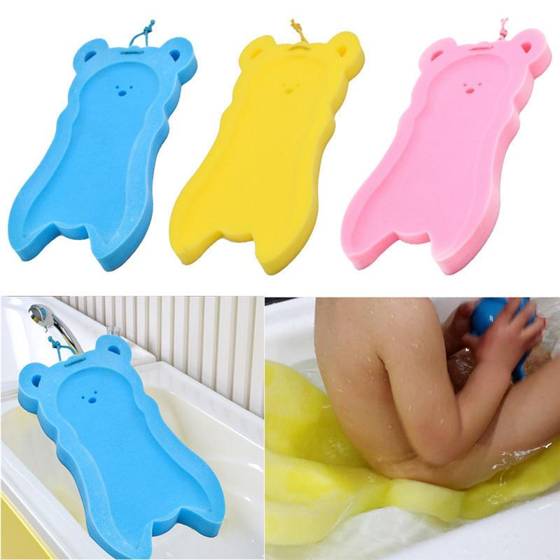 2018 Baby Kids Bath Sponge Mat Newborn Anti Slip Sponge Foam Pad ...