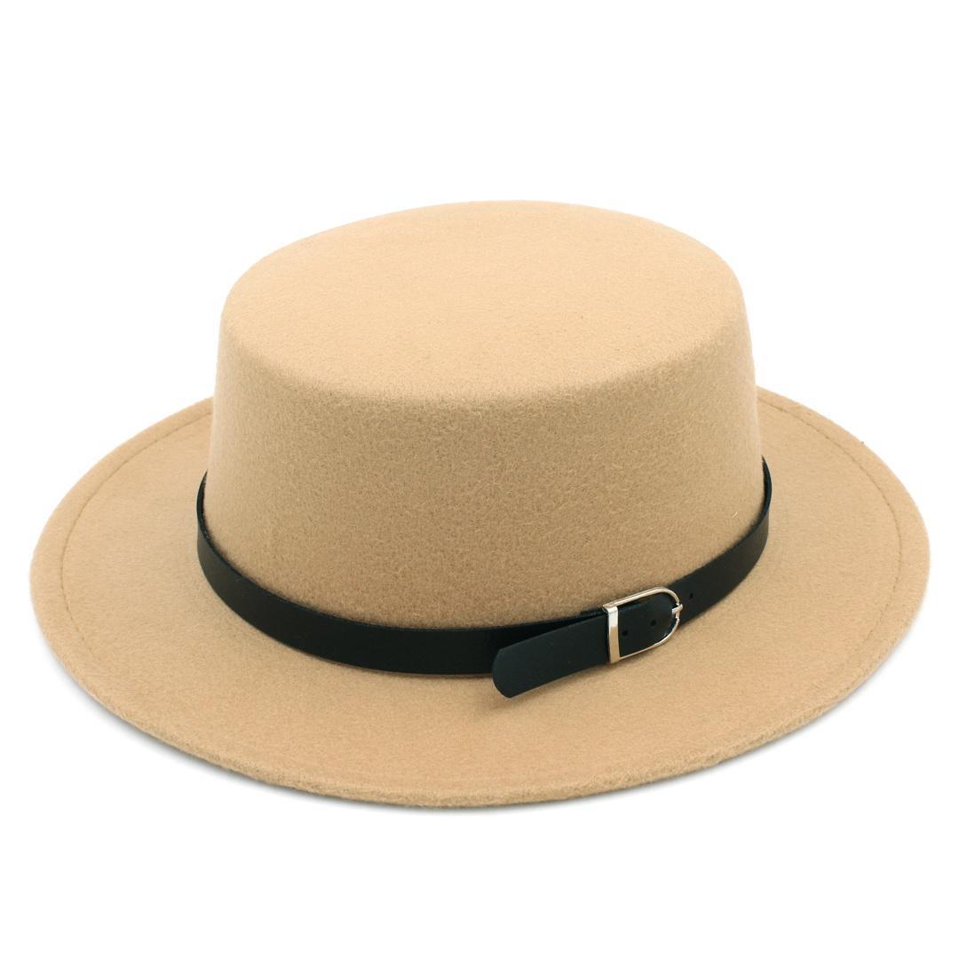 971e01d97b69c Vintage Unisex Wool Blend Bowler Cap Pork Pie Hat Wide Brim Flat Top Hat  Boater Sailor Cap Jazz Hat Black Belt Ladies Hats Floppy Hats From  Artstyle