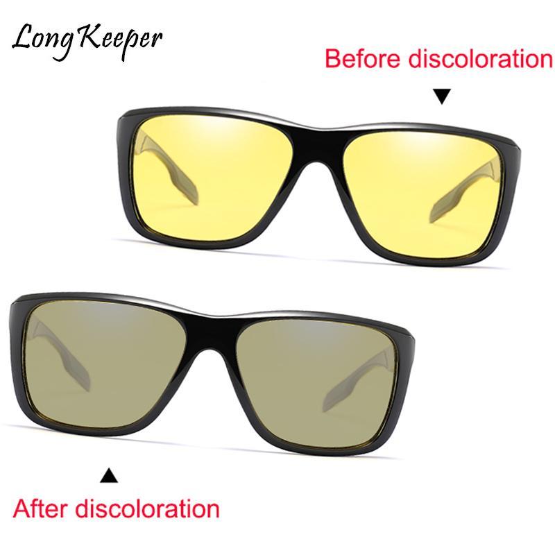 Compre Longkeeper Night Vision Photochromic Condução Óculos De Sol Dos Homens  Da Marca Designer De Moda Camaleão Polarizada Óculos De Sol Das Mulheres  Dos ... 0c7f094997