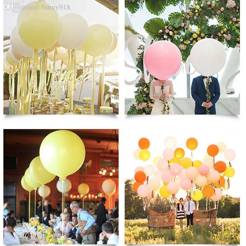 Круглые Латексные Шары 36 Дюймов Свадебные Украшения Гелий Большие Большие Гигантские Баллоны День Рождения Decora Надувной Воздушный Шар