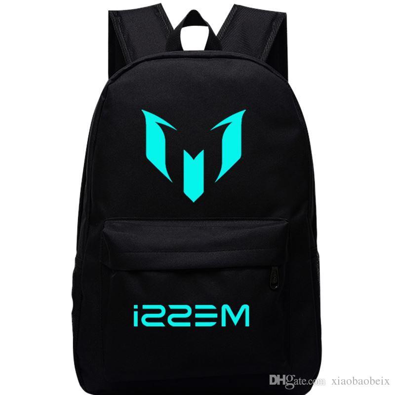 34f2c17e7b7f Wholesale New Top Quality Logo Messi Backpack Bag Men Boys Football Travel  Bag Teenagers School Gift Kids Bagpack Mochila Bolsas Escolar Canada 2019  From ...