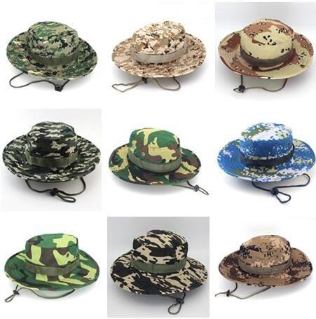 Compre Camuflagem Boonie Chapéu Jungle Cap Militar Desenhador Dobrável Chapéus  De Cowboy Homens Mulheres Exército Balde Caps Adultos Chapéu De Pesca ... 5c1d27eb30a