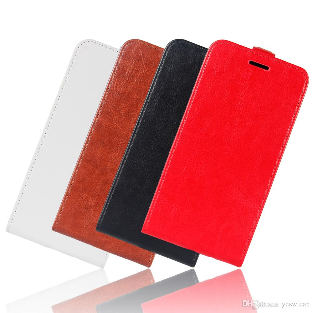 For iPhone X Up Down Leather Flip Case+TPU Back Cover iPhone 10 Wallet Cases With Card Slots Pocket