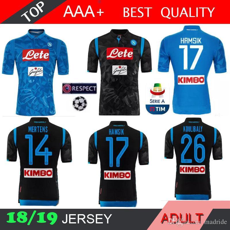 2018 2019 Napoli Camiseta De Fútbol Local Lejos Champions League 18 19  Nápoles ZIELINSKI HAMSIK INSIGNE CALLEJON JUGADOR ROG 3RD Camisetas De  Fútbol Por ... 7696062e5577a