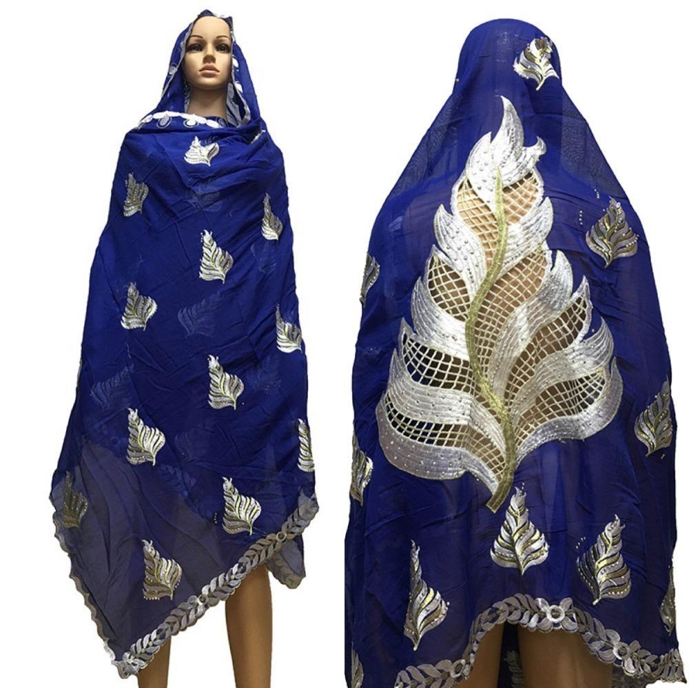 design di qualità 35d2f 2321d Foulard in cotone donna africana hijab sciarpa scialli donna musulmana  bella deisgn sul retro scialli sciarpa cotone grande BM632 D18102905