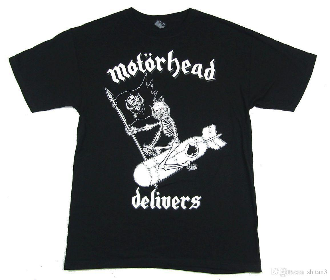 Motorhead Delivers 2015 Tour Black T Shirt New Official Merch NOS High  Quality Custom Printed Tops Hipster Tees T-Shirt