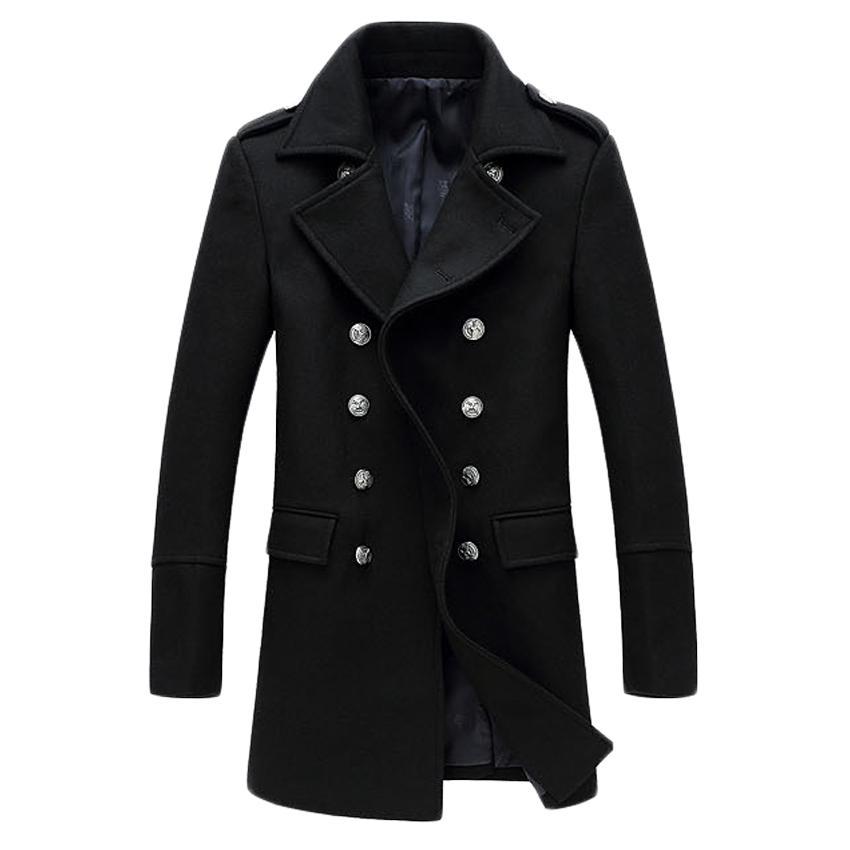 Kış Ünlü Marka yün ceket mens Uzun trençkot ceket kabanlar palto erkekler Yün Karışımları 170hfx