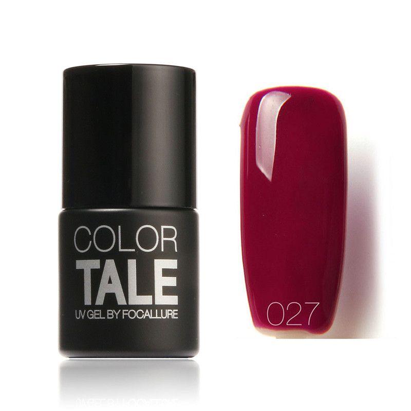 FOCALLURE Color Tale Nail Gel Polish Red Series Wine Red UV Gel ...