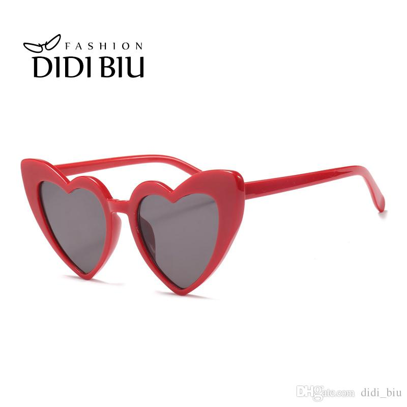 5d90e91c37 DIDI Heart Shape Pink Cat S Eye Sunglasses For Women Transparent Lens  European American Plastic Frame Goggle Hippie Ocular W835 Foster Grant  Sunglasses ...