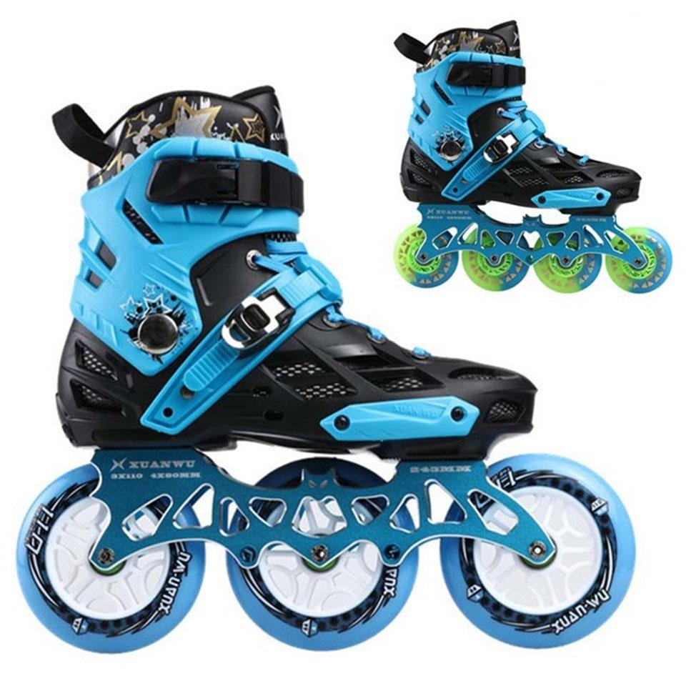 Compre Japy Skate Profesional Para Adultos Patinaje Sobre Ruedas Patines 4    80 O 3   110 Mm Intercambiable Slalom Velocidad Patines Patinaje Libre  Patines ... c39f01a7533