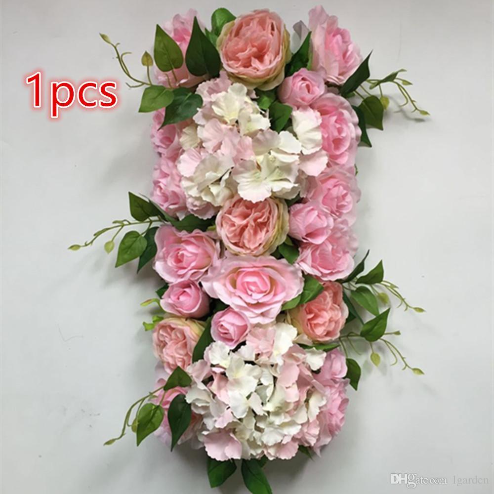 Nouvelle Artificielle Rose Hortensia Fleur Mur De Mariage Stade Fond Décoration Route Ting Ting Fang Ting Arch