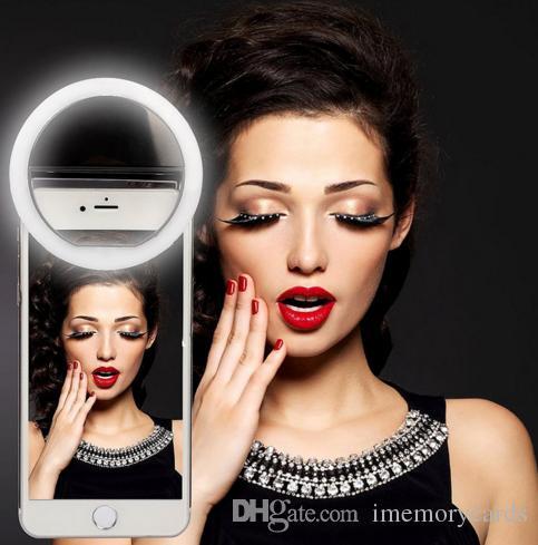 2019 venda quente led selfie anel de luz para o iphone para xiaomi para samsung huawei flash portátil camera phone case capa fotografia aprimorando