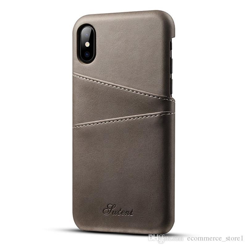 슬림 PU 가죽 케이스 아이폰 X 8 7 6 6s 플러스 케이스 럭셔리 백 커버 카드 홀더 월렛 핸드폰 가방 아이폰 X 케이스