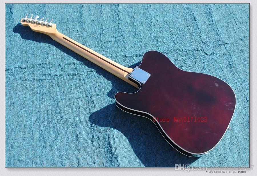Großhandel Gitarre Fabrik Hohe Qualität Telecaster Gitarre Ahorn Griffbrett Sunburst tele Elektrische Gitarre Chrom Hardware Kostenloser Versand