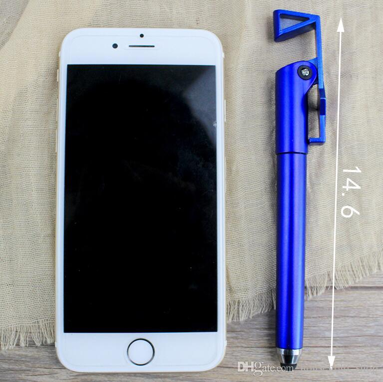 DHL Capacitive Touch Screen Pen Stylus pen Multi Function Pens With Phone Holder Ball Pens Touch Screen For iphone ipad