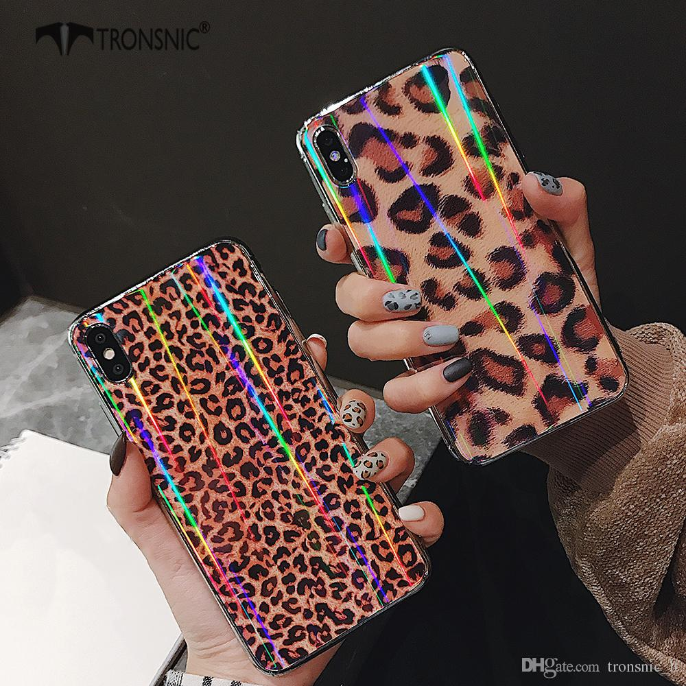 e48d575940 Tronsnic Leopard Laser Phone Case for IPhone X XS MAX XR Hard ...