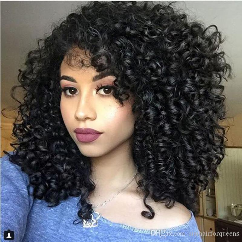 Aisi Hair Short Kinky Curly Wigs For Black Woman Dark Shoulder Length Hair For Female Looking Natural Synthetic Fiber Wig