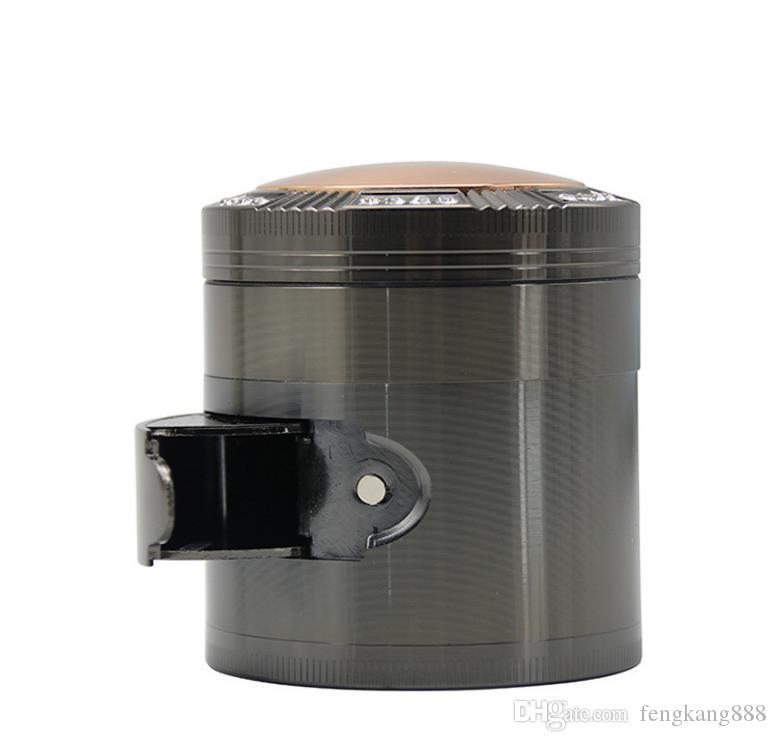 2018 nuovo quattro livelli in lega di zinco accendisigari diametro 52mm copertura cupola set di sigarette di perforazione