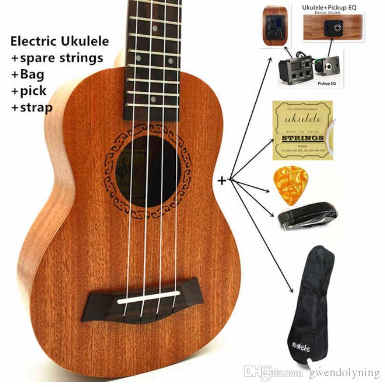 406fa6cc9 Ukulele Concert Soprano Tenor Ukelele Mini Guitarra Acústica eléctrica  Ukelele Guitarra Instrumentos de cuerda W- / Pick Up EQ