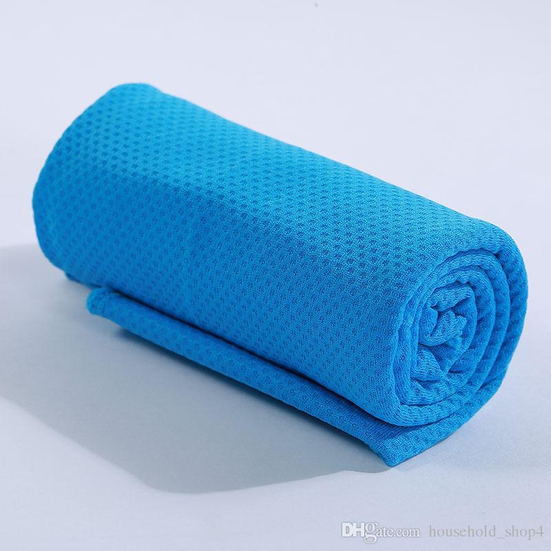 Волшебное полотенце льда быстро-охлаждая полотенце летние холодные Спорт холодные полотенца ощущения холодный шарф для на открытом воздухе спорта