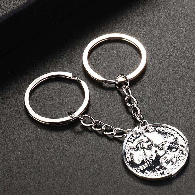 Turtle Silver Plated Key Chain Ring Set Pendant Keychain Women Men Jewelry  Lovers Couples Gift Best Friend Charm Keyring Self Defense Keychain Key  Case From ... 85b984cc0