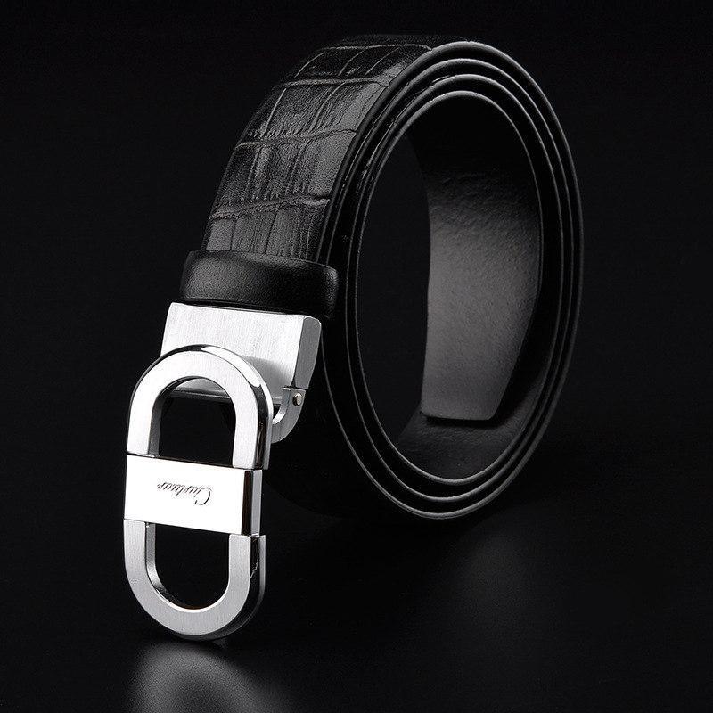 Compre 2018 Ciartuar Cinturones De Piel De Vaca De Lujo Cinturón De  Diseñador De Moda Para Hombres Correa De Cintura De Cuero Genuino De Alta  Calidad Correa ... 01a1859ebe1a