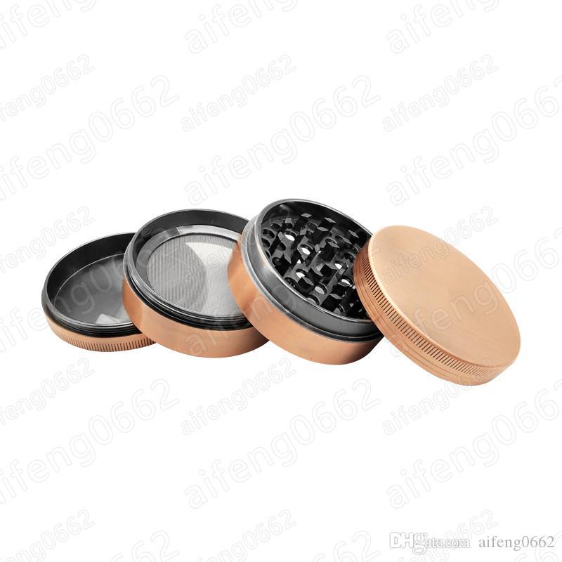 4 piezas de 63 mm Dia fumadores seco Grinder de aleación de zinc metal Tabaco especia polen Mini moleta de la mano trituradora para fumar mayorista