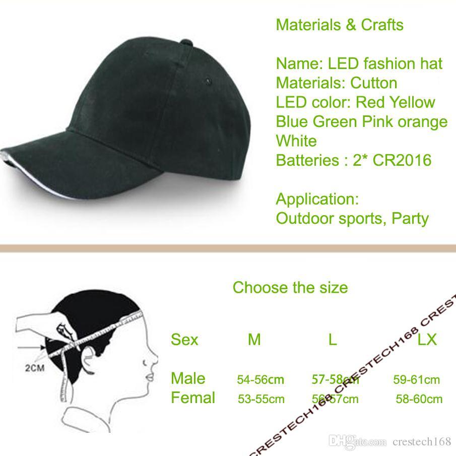 5leds LED 모자 야외 조깅, 캠핑, 하이킹, 힙합 파티, 낚시에 대 한 무료 LED 야구 모자 모자