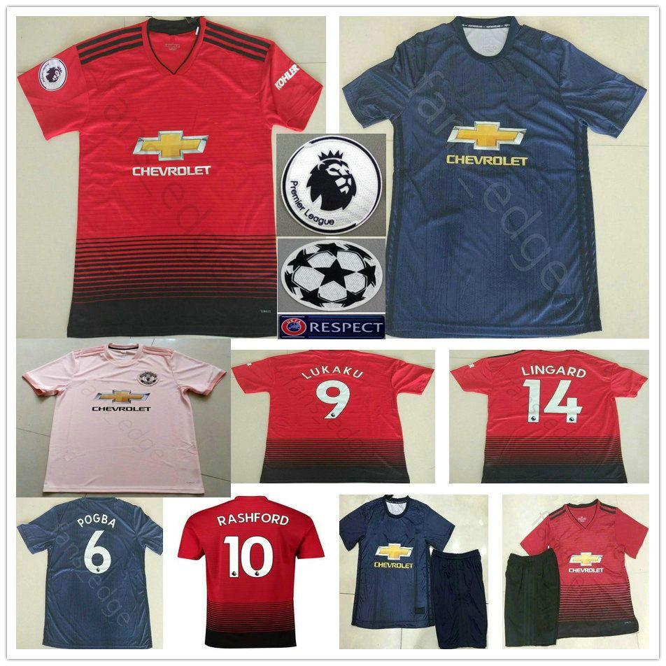 58310c2d4 2019 Manchester United Soccer Jerseys 10 RASHFORD POGBA ALEXIS ...