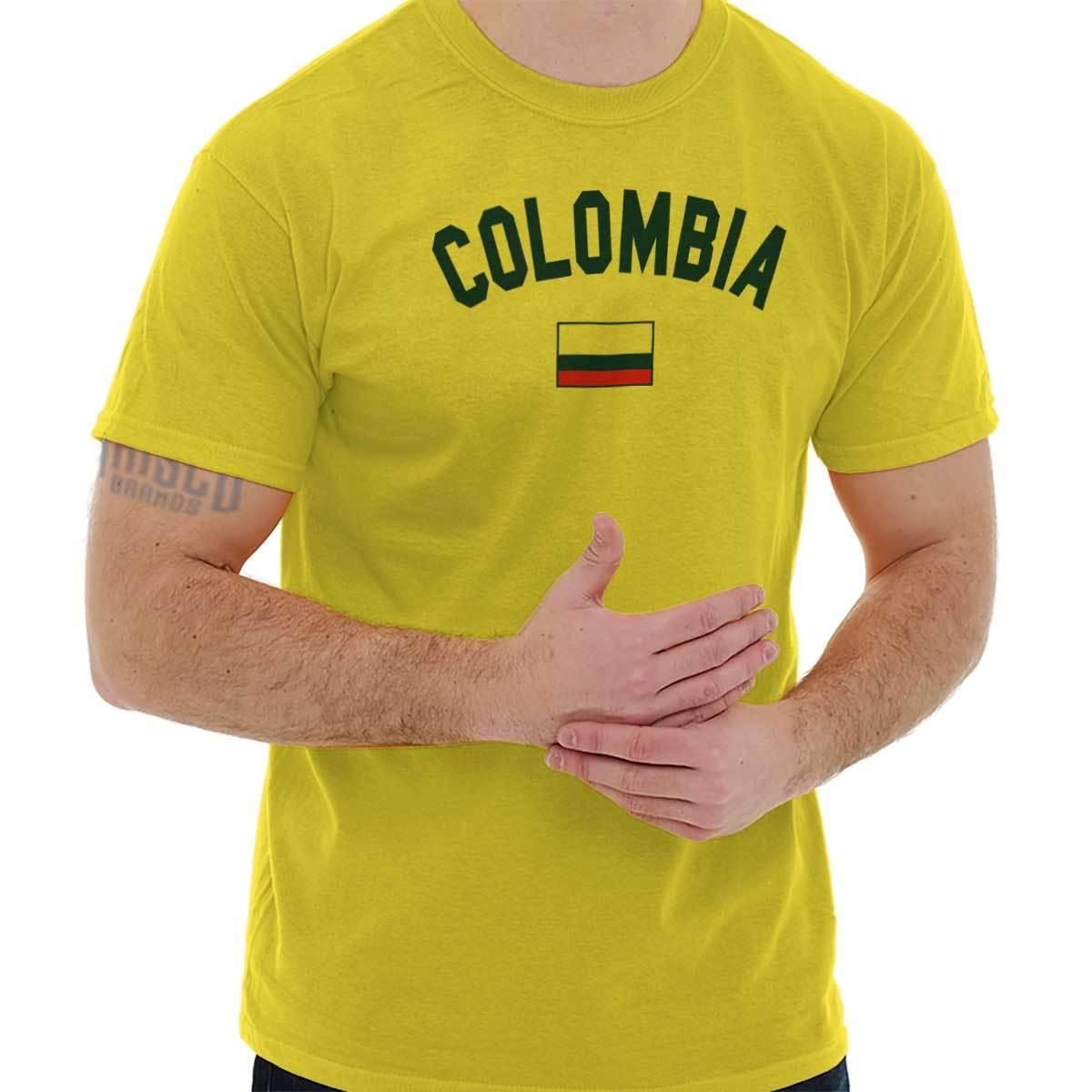 Details Zu Colombia Flag World Cup Soccer Colombian National Flag Pride T  Shirt Tee Funny Unisex Casual Gift Denim Shirts Design T Shirts From  Topclassa 6a539c8bf