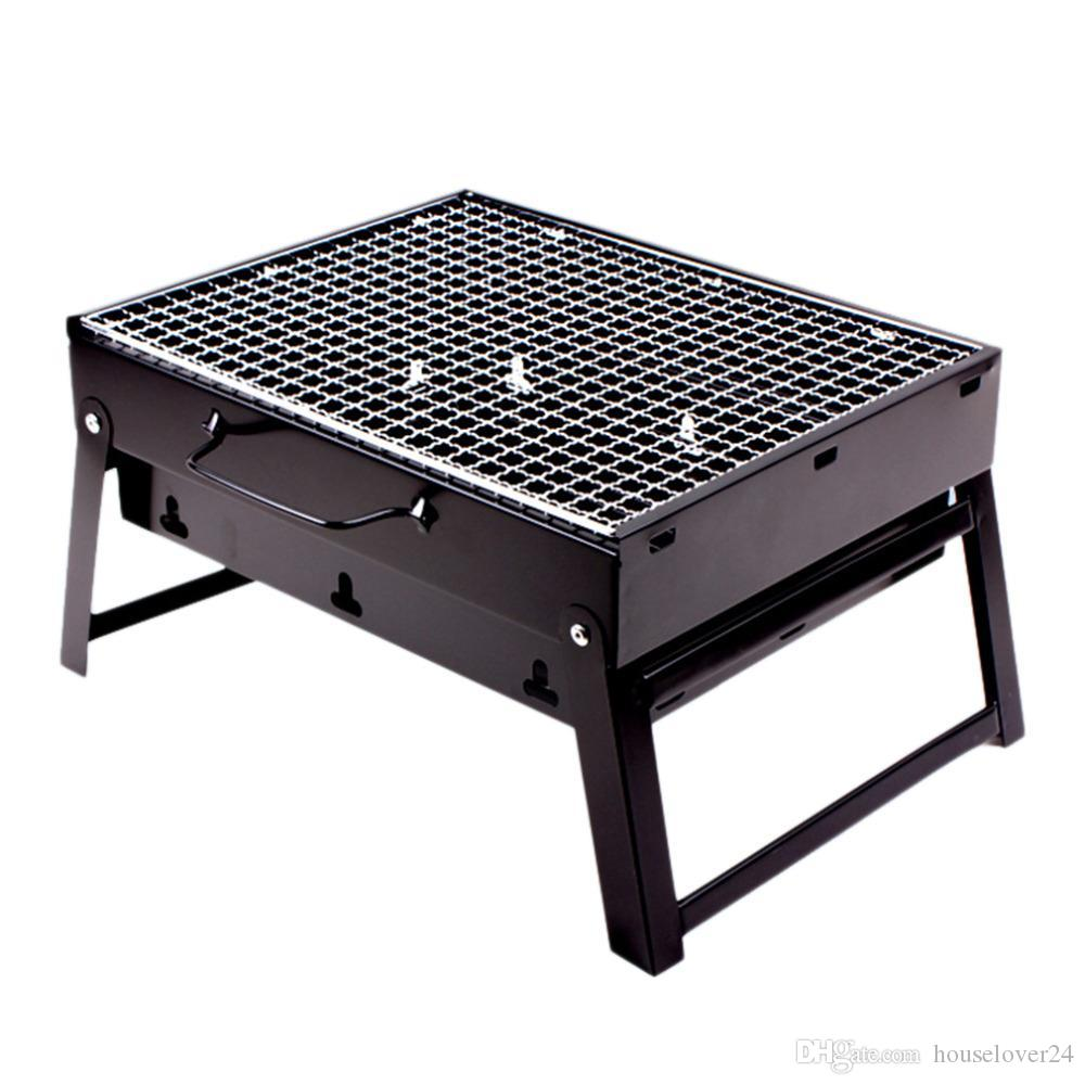2018 New Arrival Camping Grill Portable Folding Charcoal Bbq Grill For 1 3  Person Stainless Steel Simple Picnic Barbecue Rack From Houselover24, ...