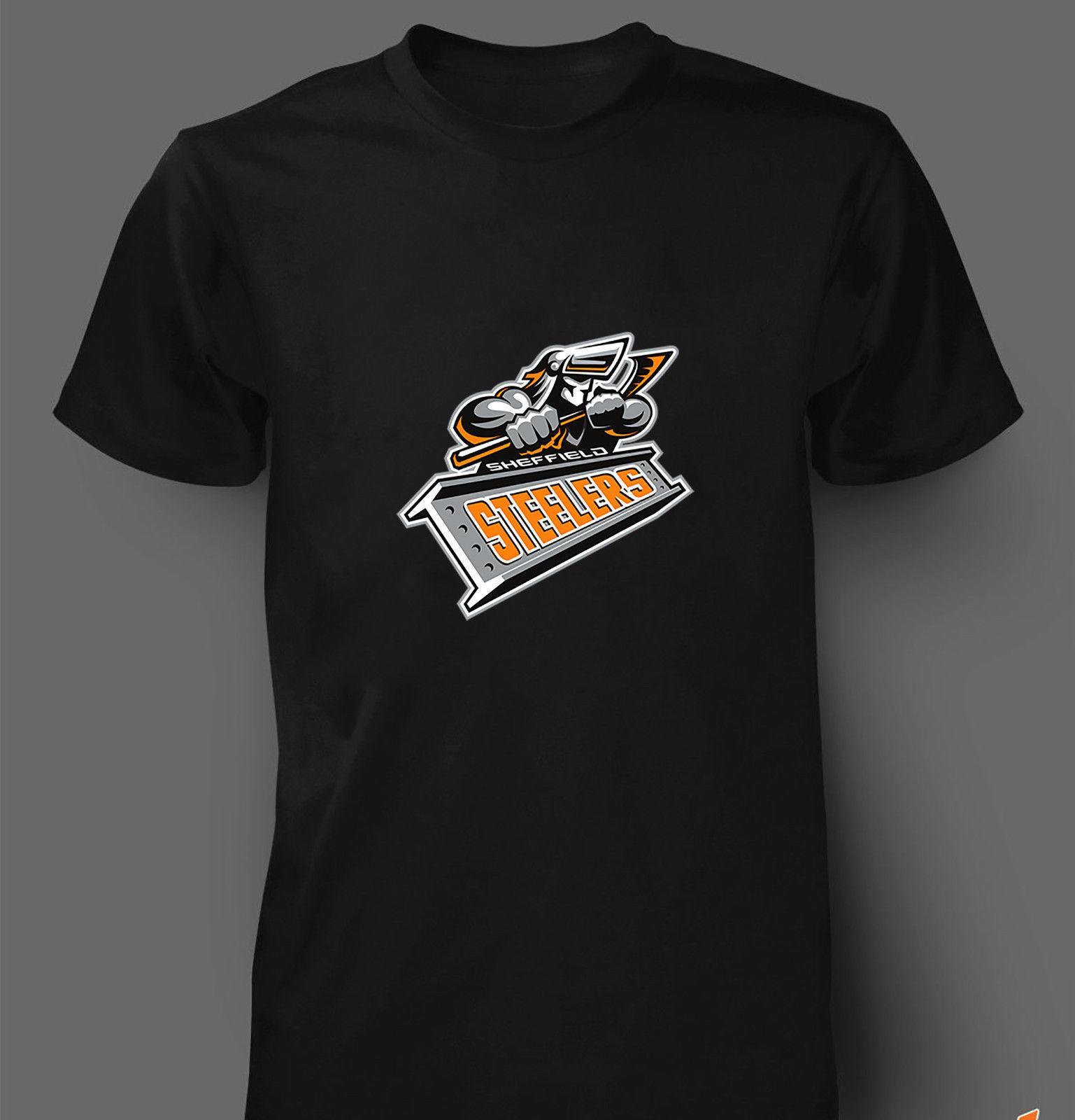 Team Sheffield Professionele T Kids Ijshockey Steelers Heren shirt fy7Ygvb6