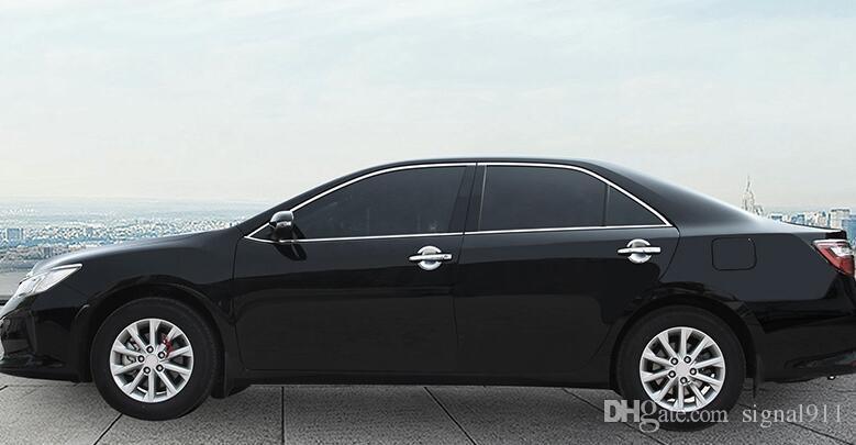 Высокое качество ABS хром 8 шт. двери автомобиля ручка украшения крышка + 4 шт. двери автомобиля ручка украшения чаша для Toyota Camry 2012-2018