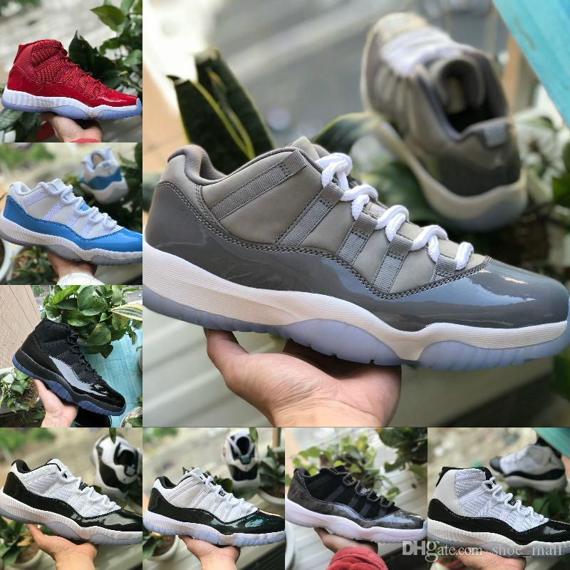 new style b2721 fb151 Großhandel 2018 Nike Air Jordan 11 Air Max Michael Jordans Retro Shoes New  11 Prom Night Cap Und Gown Gym Rot Schwarz Weiß Cool Grey Midnight Navy  Concord ...