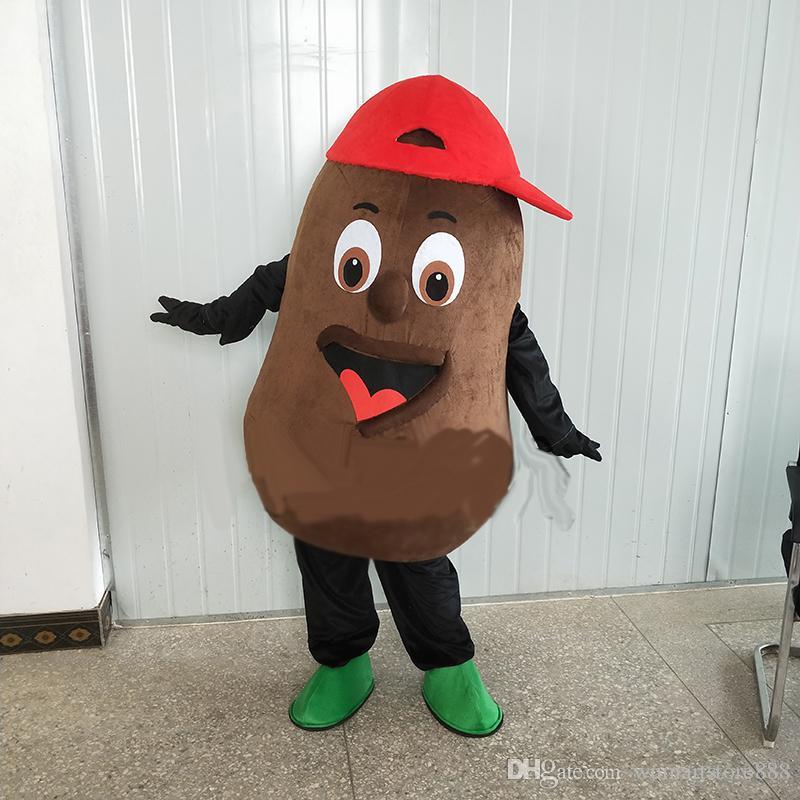 0fe76d4e3b8d Acquista Costume Di Mascotte Di Chicco Di Caffè Al Cioccolato Cospaly  Personaggio Dei Cartoni Animati Adulto Costume Di Carnevale Di Festa Di  Halloween ...