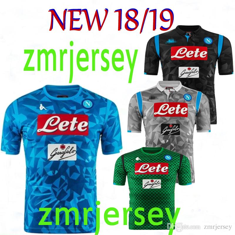 2018 2019 Naples New Napoli Camisetas De Fútbol De Casa Napoli Camisetas De  Fútbol Azul Camiseta Para Hombres 18 19 Camisetas De Fútbol HAMSIK  L.INSIGNE Por ... 09bbc5e98541e