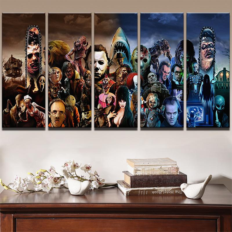 2018 Modern Wall Art Printed Landscape Canvas Poster Horror Movie ...