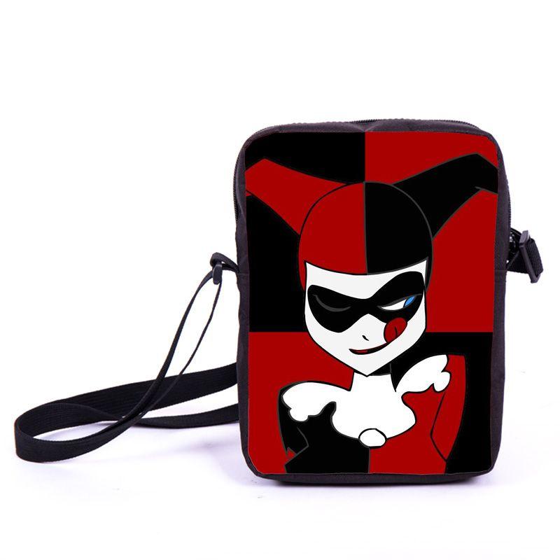 92a38f32bc Harley Quinn And Joker Shoulder Bag Women Handbags Boys Girls Mini  Messenger Bags Children Crossbody Bags Best Gift For Kids White Handbags  Discount ...