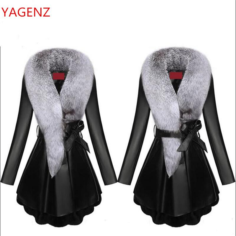 Top quality Winter coat Women Leather clothes New product Sheep skin Fox fur collar Down feathers Keep warm Women coat K2509