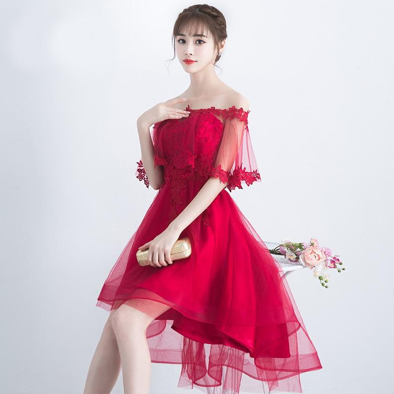 0fad0febf6ee Evening Dress New Style Long Dresses Red Wine Korean Style Slim Fit ...