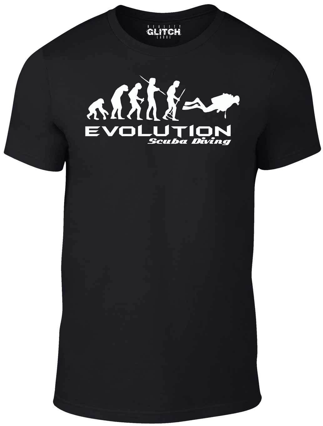 4181bfba Evolution Of Scuba Diving T Shirt Funny T Shirt Swim Retro Sea Cool Boat  Party Funny Unisex Casual Tee Gift Mens T Shirt Cool Tshirt Designs From ...