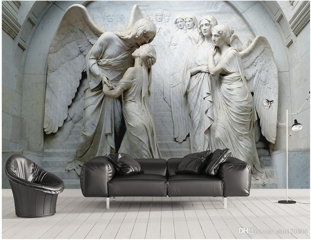 3d wallpaper cloth custom photo relief classical religious figures3d wallpaper cloth custom photo relief classical religious figures angels background wall 3d wall murals wallpaper for walls 3 d living room top rated