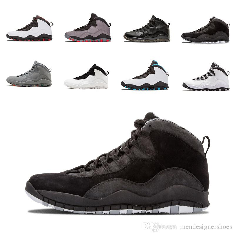 2018 Men Shoes 10 10S Chicago I m Back Steel Cool Grey Powder Blue ... 4737569a6