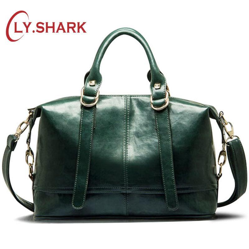 SHARK Big Cheap Women Bags Female Bag PU Leather Crossbody Messenger Bag  Women Shoulder Handbags Boston Green Famous Brand Y18102603 Handmade Leather  Bags ... a318a43799