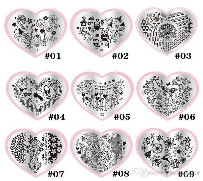 28 diseños Nail Art Stamping Image Plate Nuevo OM Nail Art Stamping Plate, Moda Impresión Polaca Nail Stamp Manicure Tools